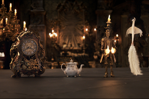 Beauty And The Beast Movie Cogsworth Mrs Potts Lumiere