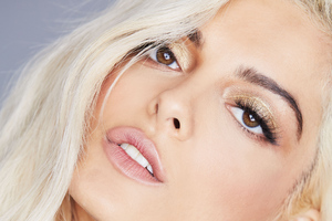 Bebe Rexha Face Closeup Portrait Wallpaper