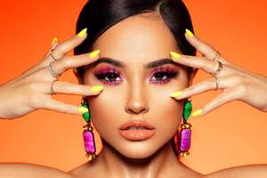Becky G Rosa Signature 2019 4k Wallpaper