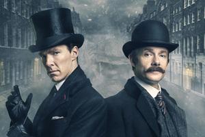 Benedict Cumberbatch And Martin Freeman Sherlock Holmes