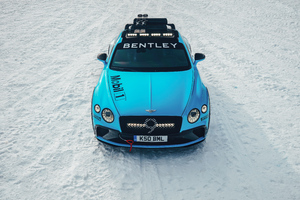 Bentley Continental Gt Ice Race 5k Wallpaper