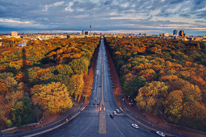 Berlin Houses Roads Trees Wallpaper