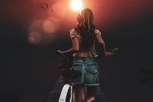 Bicycle Girl Morning Manipulation 5k