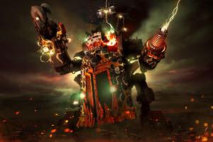 Big Kustom Beauty Da Morkanaut Warhammer 40000 dawn of war III Wallpaper
