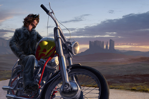 Bike Rider Digital Art 5k Wallpaper