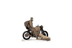 Biker With Dog 4k Wallpaper