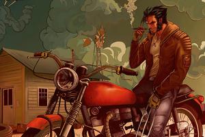 Biker Wolverine Wallpaper