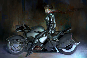 Bikerlady Wallpaper