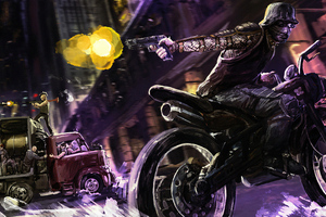 Bikers And Thief Wallpaper