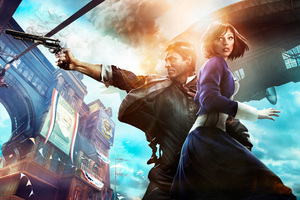 Bioshock Infinite Booker Dewitt And Elizabeth 8k