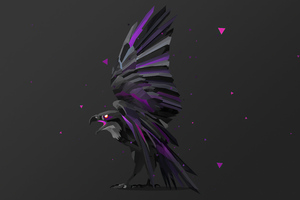 Bird Fractal Art 5k Wallpaper