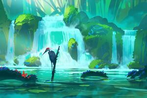 Bird River Digital Art 4k Wallpaper