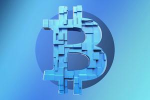 Bitcoin Logo Background 5k Wallpaper