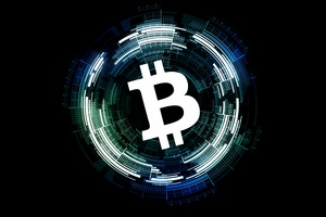 Bitcoin Logo Black Background 4k