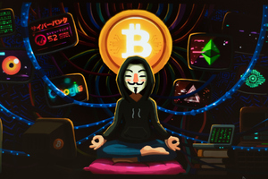 Bitcoin Monk Wallpaper