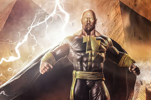 Black Adam 4k Artwork Wallpaper