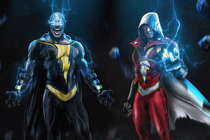 Black Adam And Shazam 4k Wallpaper
