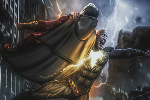 Black Adam And Shazam4k Wallpaper