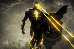 Black Adam Laser Eyes 4k Wallpaper