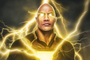 Black Adam Lightning Power 4k
