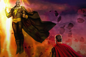 Black Adam Vs Superman 4k Wallpaper