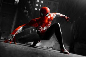 Black And Red Spiderman 4k