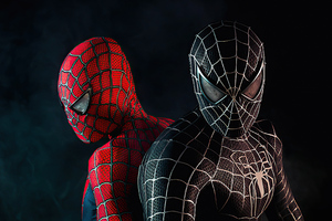 Black And Red Spiderman Suit Cosplay Wallpaper
