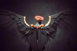 Black Angel Sadness Wallpaper
