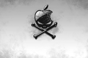 Black Apple Skull Wallpaper
