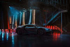Black Bugatti Chiron 2020 4k