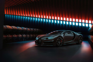 Black Bugatti Chiron 2020 Wallpaper