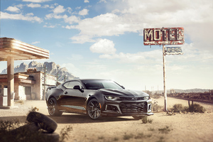 Black Camaro Chrome 4k