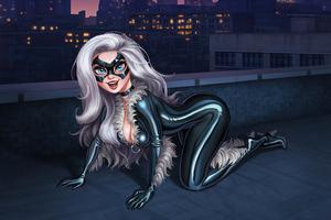 Black Cat Girl 4k