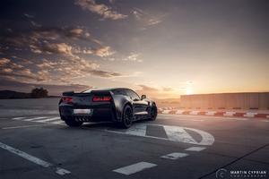 Black Corvette Rear