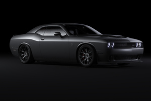 Black Dodge Challenger 4k Wallpaper