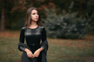Black Dress Clothing Girl 4k Wallpaper