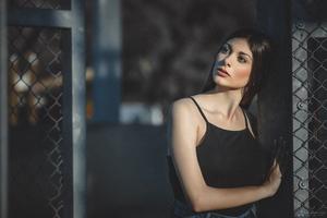 Black Dress Portrait Model Wallpaper