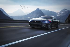 Black Ford Mustang 4k 2020 Wallpaper