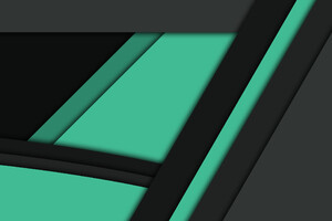 Black Green Material Design Wallpaper