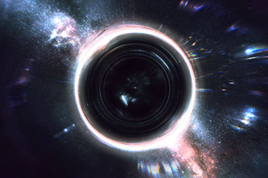 Black Hole Abstract 4k Wallpaper