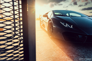 Black Lamborghini Huracan Front Led Lights