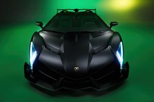 Black Lamborghini Veneno 5k Wallpaper
