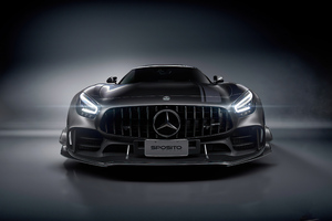 Black Mercedes Amg Front Wallpaper