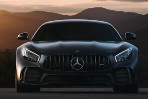 Black Mercedes Benz Amg Gt 4k 2020 Wallpaper