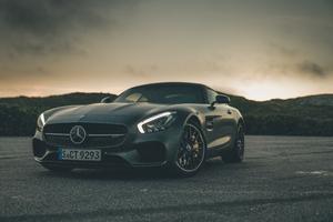 Black Mercedes Benz Amg GT 5k Wallpaper