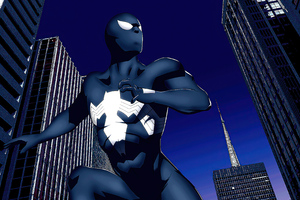 Black Moon Spiderman 4k