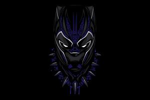 Black Panther 4k Minimalism 2020 Wallpaper