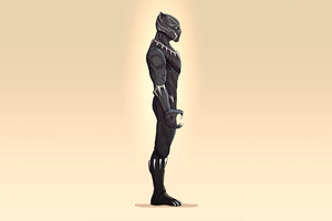 Black Panther 4k Minimalism Wallpaper