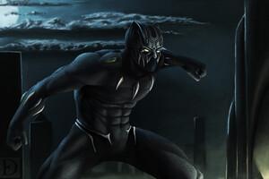 Black Panther Artworks Wallpaper