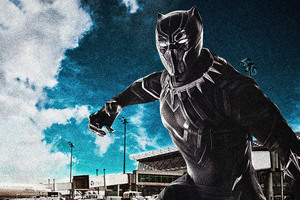 Black Panther Captain America Civil War 8k